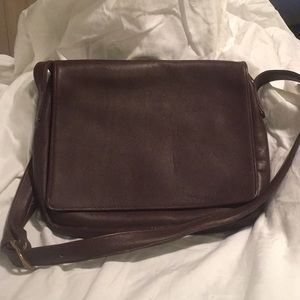 Aston brown leather crossbody handbag